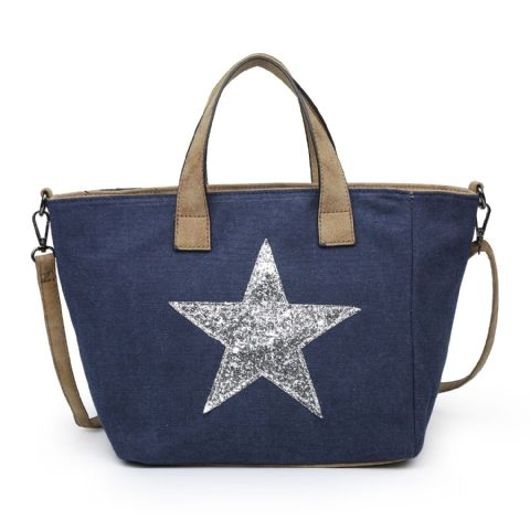 SMALL STAR TOTE NAVY